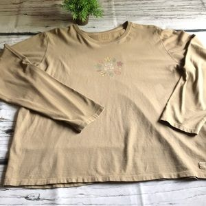 Life is Good long sleeved top in XL..tan